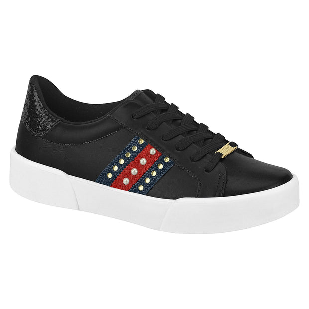 Vizzano 1299-101 Fashion Sneaker in Black Napa