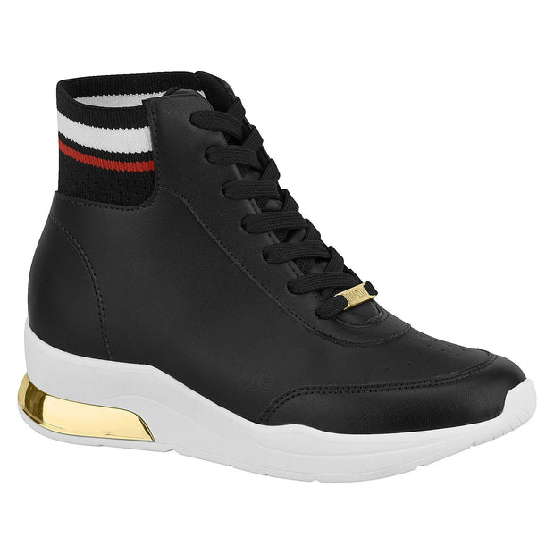 Vizzano 1304-109 High Top Sneaker in Black Napa