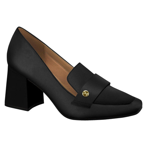 Vizzano 1311-102 Block Heel Pump in Black Napa