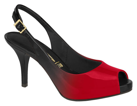 Vizzano 1781-405 Ombre Patent Slingback in Multi Red