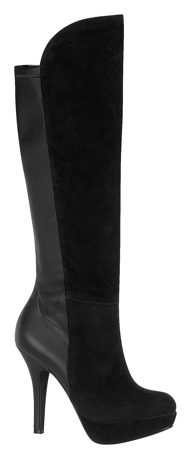 Vizzano 3038-114 High Heel Platform Boot in Black