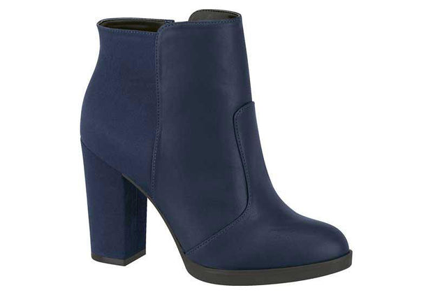 Vizzano 3047-100 Block Heel Ankle Boot in Navy