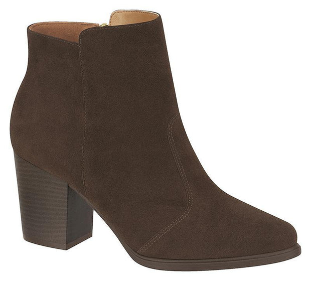 Vizzano 3048-100 Nubuck Ankle Boot in Brown Boots Vizzano