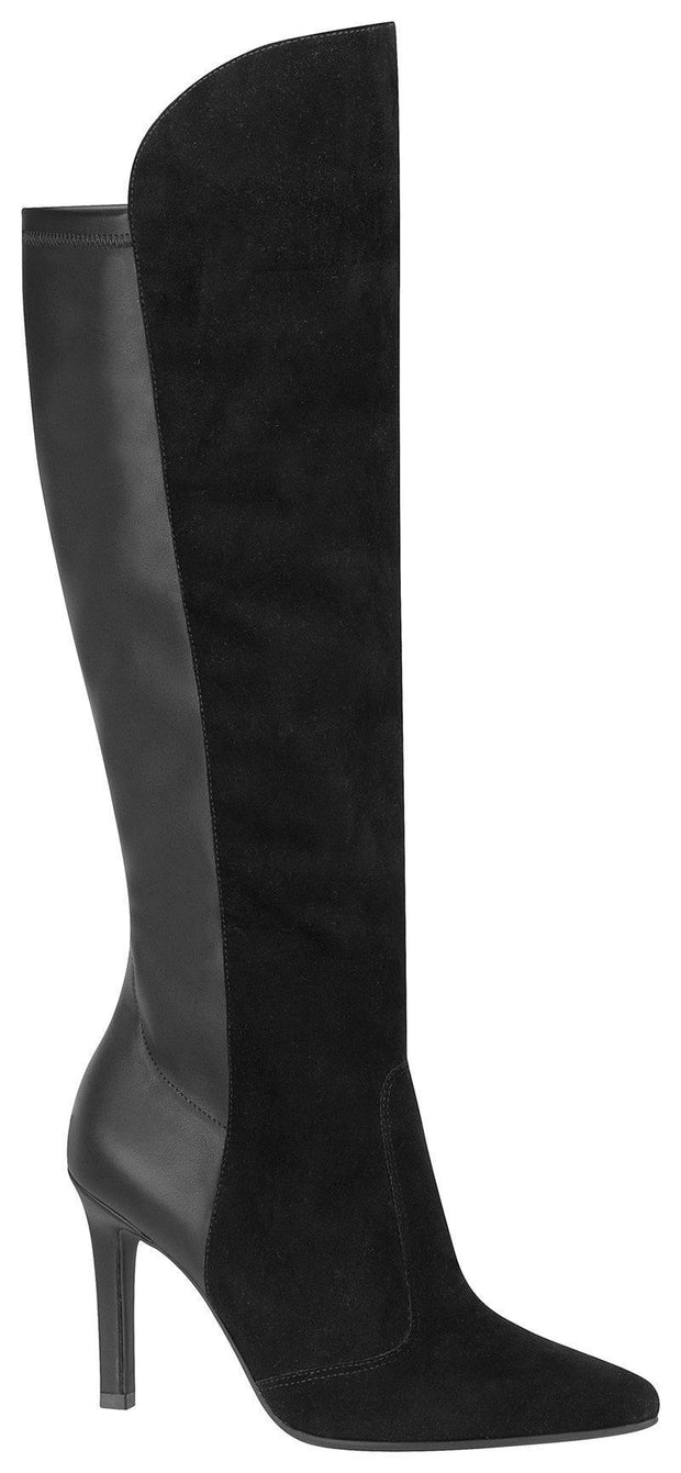 Vizzano 3049-104 Double-tone Stiletto Boot in Black
