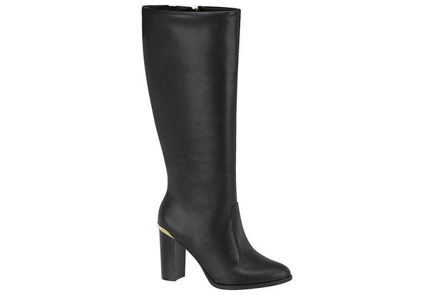 Vizzano 3053-202 Block Heel Long Boot in Black Napa