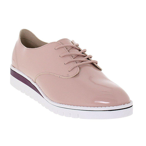 Beira Rio 4174-719 Brogue Flats in Pink Patent