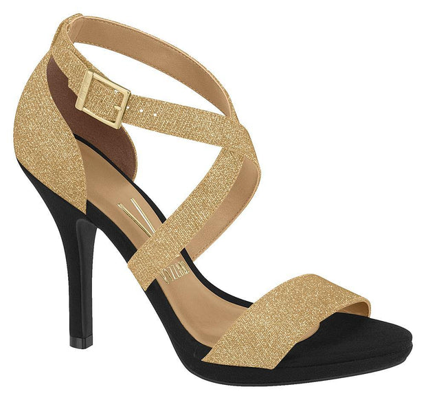 Vizzano 6210-431 Strappy Evening Sandal in Multi Gold