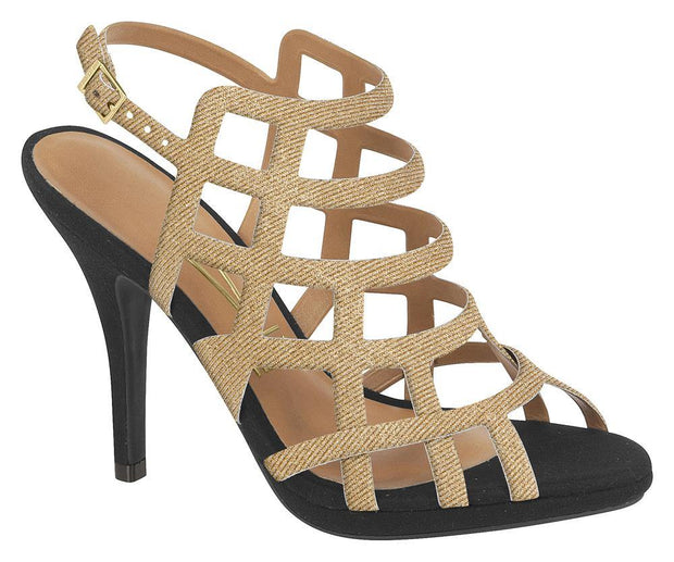 Vizzano 6210-445 Caged Evening Sandal in Multi Gold