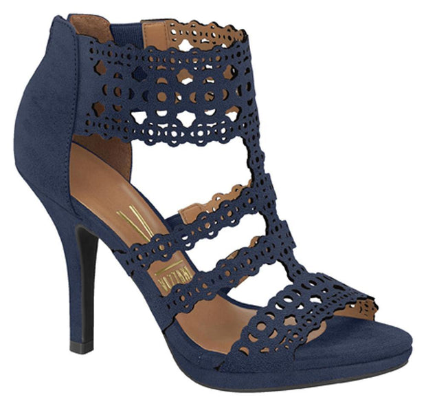 Vizzano 6210-450 Caged Sandal in Navy Suede