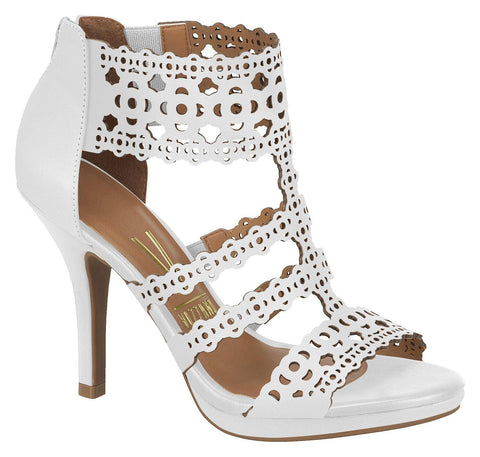 Vizzano 6210-450 Caged Sandal in White Napa
