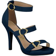 Vizzano 6210-483 High Heel Strappy Sandal in Navy Napa
