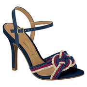 Vizzano 6249-154 High Heel Sandal with Nautical Detail in Navy