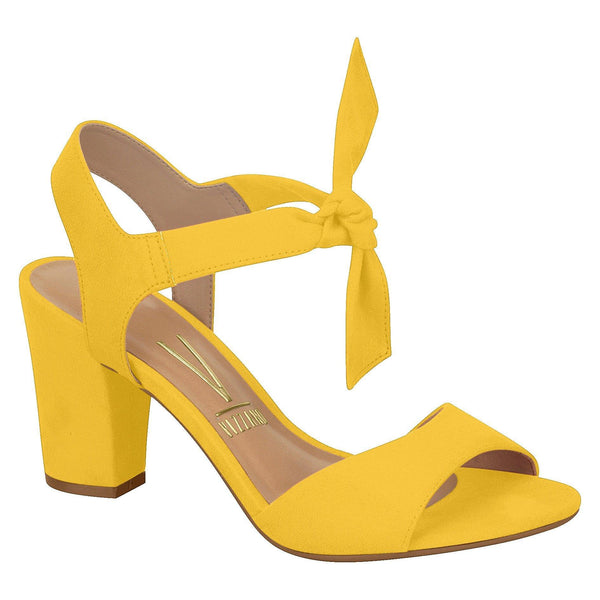 506b084b5e Vizzano 6262-247 Block Heel Sandal with Tie Up Ankle Strap in Yellow Suede