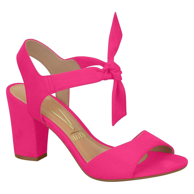 Vizzano 6262-247 Block Heel with Tie Up Ankle Strap in Pink Suede