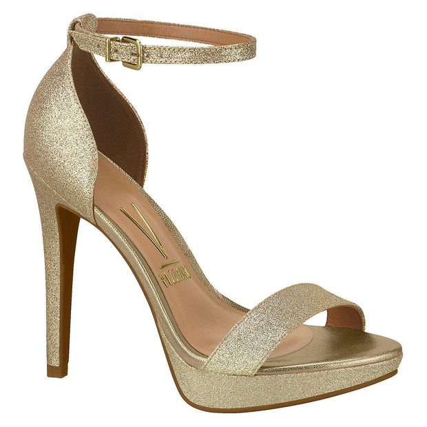 Vizzano 6278-104 High Heel Sandal in Gold Shimmer Sandals Vizzano