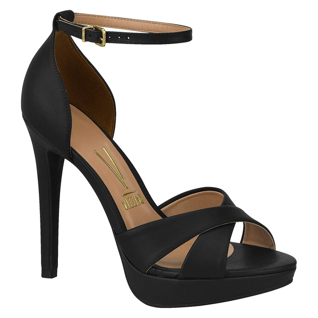 Vizzano 6278-113 High Heel Sandal in Black Napa