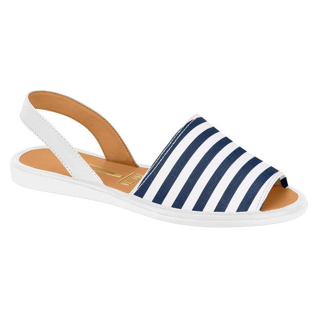 Vizzano 6280-100 Slip-On Flat with Navy and White Stripes