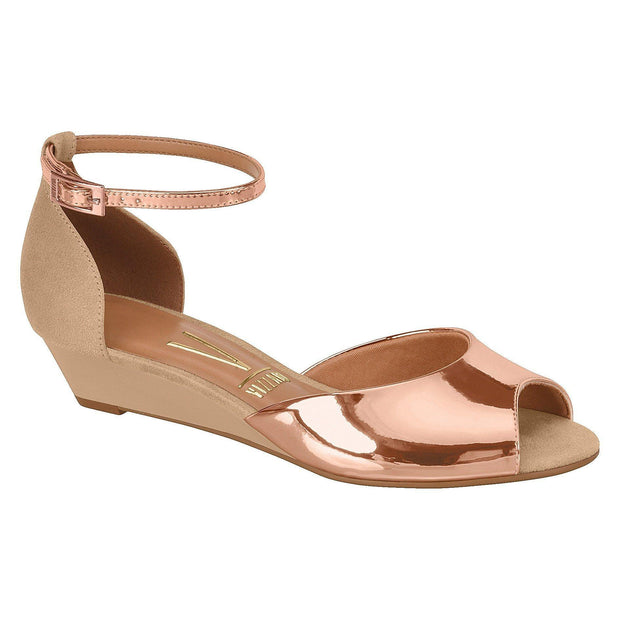 Vizzano 6285-111 Low Heel Wedge in Rose Gold / Beige