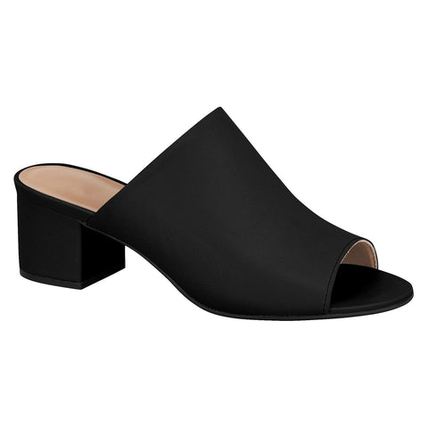 Vizzano 6291-130 Low Heel Slip-on Mule in Black Napa