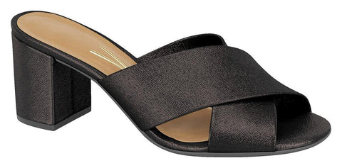 Vizzano 6298-105 Block Heel Slip-on Sandal in Black