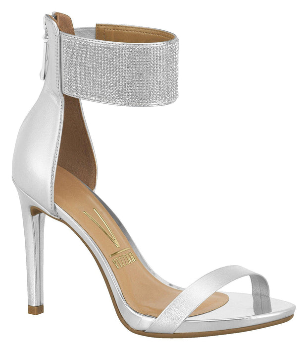 Vizzano 6302-104 High Heel Evening Sandal in Silver