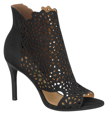 Vizzano 6306-104 Peeptoe Cut-out Bootie in Black