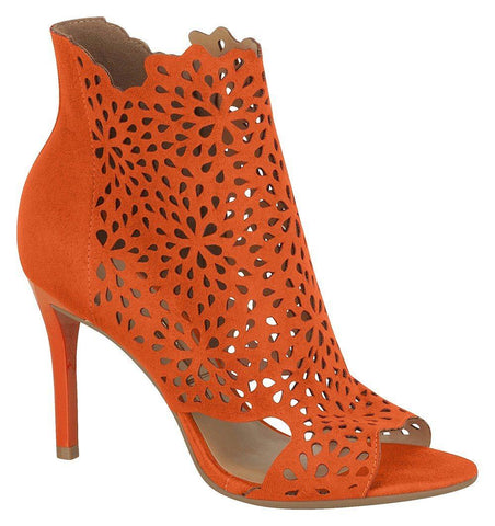 Vizzano 6306-104 Peeptoe Cut-out Bootie in Orange