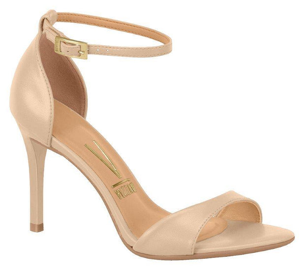 Vizzano 6306-106 High Heel Sandal in Beige Napa