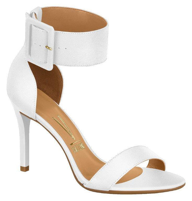 Vizzano 6306-116 High Heel Ankle Strap Sandal in White Napa