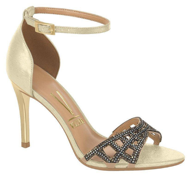 Vizzano 6306-312 High Heel Evening Sandal in Gold