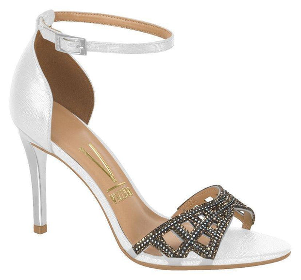 Vizzano 6306-312 High Heel Evening Sandal in Silver