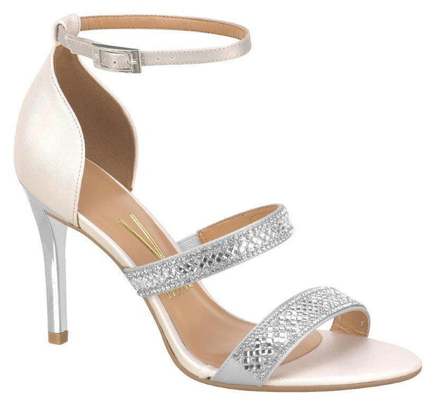 Vizzano 6306-313 High Heel Evening Sandal in Silver