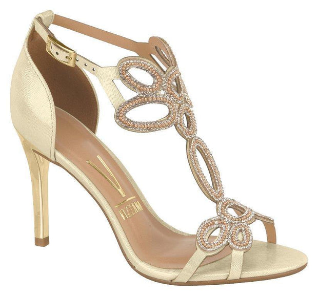 Vizzano 6306-314 High Heel Evening Sandal in Golden