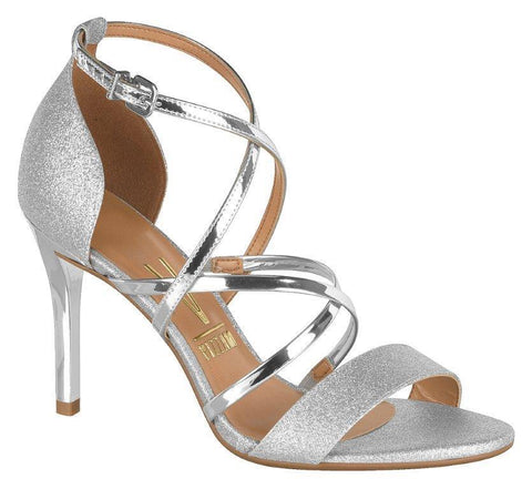 Vizzano 6306-320 High Heel Evening Sandal in Silver