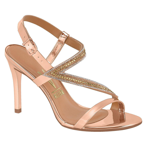 Vizzano Heeled Evening Sandal 6323-100 in Rose Gold Sandals Vizzano