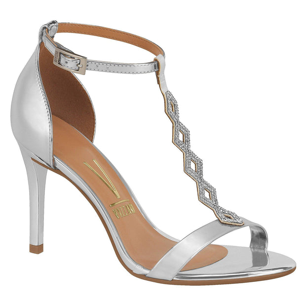 Vizzano Evening T-Bar Sandal 6323-103 in Silver Sandals Vizzano