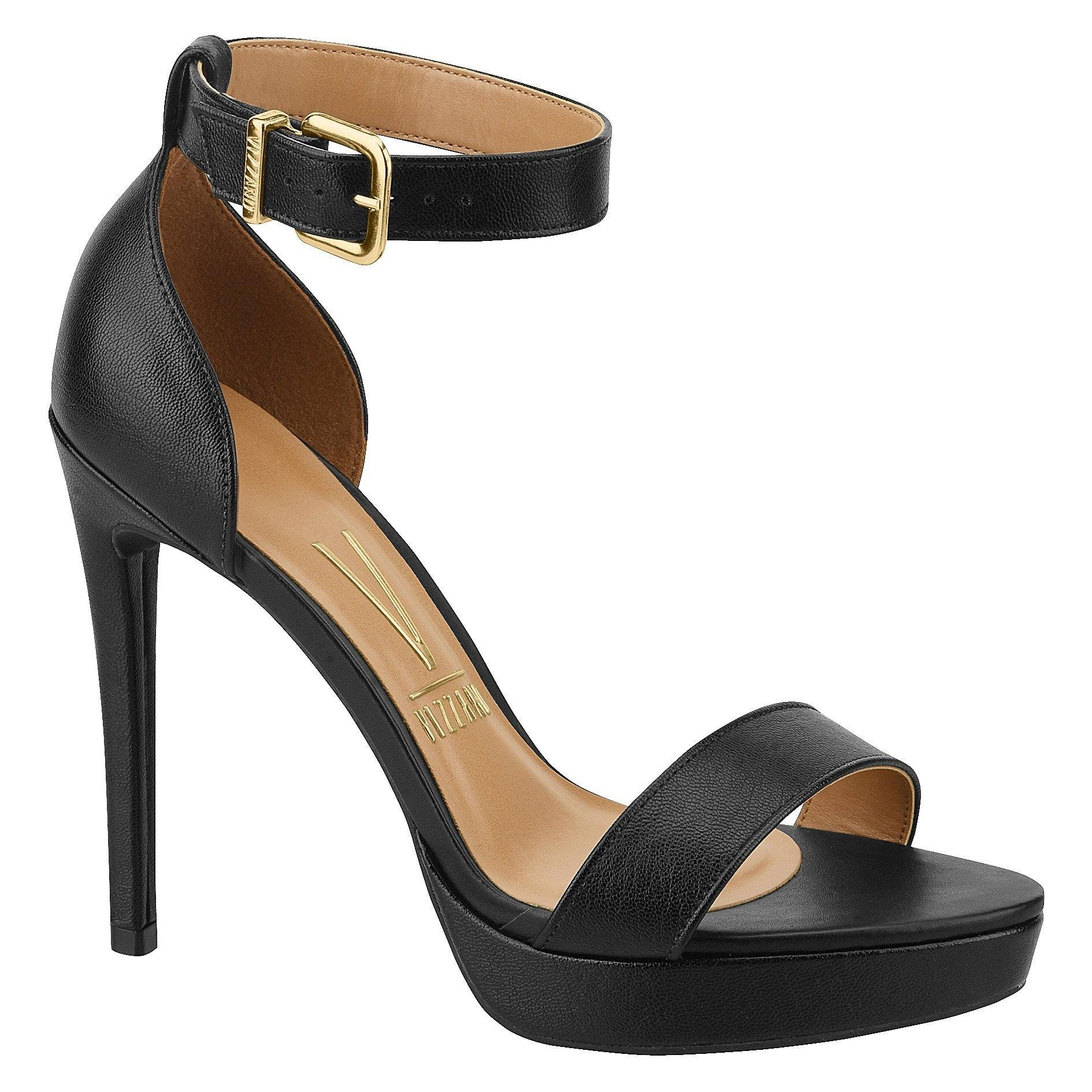 Vizzano 6326-108 High Heel Sandal in Black Napa