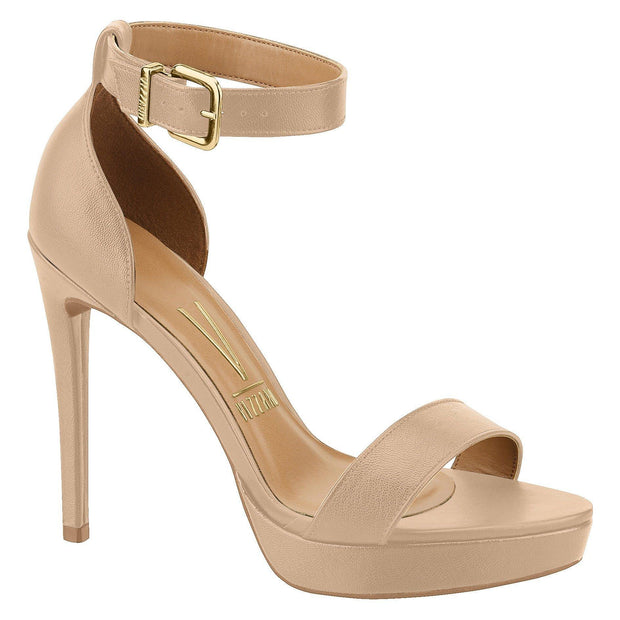 Vizzano 6326-108 High Heel Sandal in Beige Napa