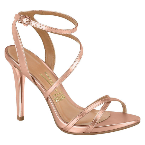 Vizzano 6337-100 High Heel Evening Sandal in Rose Gold