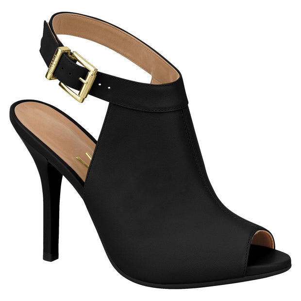 Vizzano 6398-102 Peeptoe Stiletto in Black Napa
