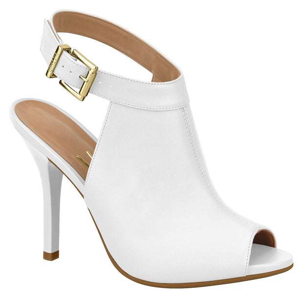 Vizzano 6398-102 Peeptoe Stiletto in White Napa
