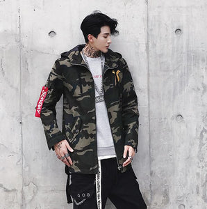 Fashion Coat X Jacket Camouflage Colour