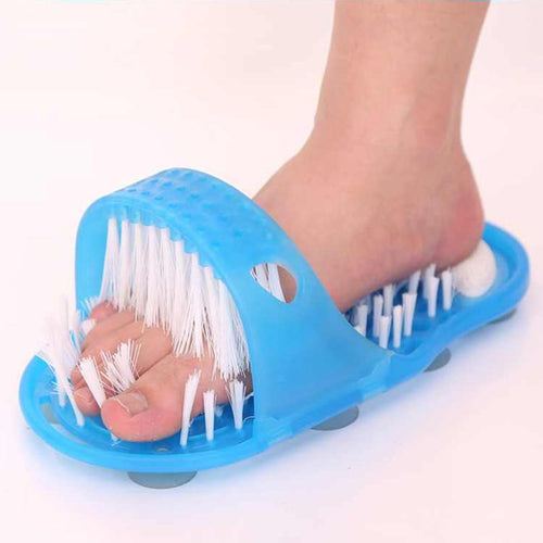 Easy Feet Foot Cleaner Bathroom Massanger Slipper Bath Shoe Pumice Stone Easyfeet Foot Scrubber Spa Shower Brush Foot Care Tool