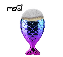 Load image into Gallery viewer, MSQ Mermaid Foundation Makeup Brush Fish Shaped Blending Blusher Cosmetic Make up Brush Tool