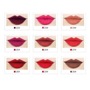 Menow brand Lip gloss 38 Color Velvet Kissproof Matte Lip gloss Waterproof Long Lasting Gloss Fashion Cosmetic L16004