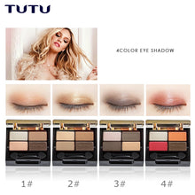 Load image into Gallery viewer, TUTU Professionale di Occhi Trucco Glamorous Smokey 4 Colori di Velluto Opaco Ombretto Tavolozze Giornaliero Make Up Kit