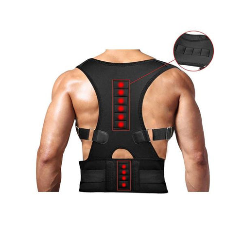US-Posture-Corrector-Support-Magnetic-Back-Shoulder-Brace-Beltr-Men-Women SFC