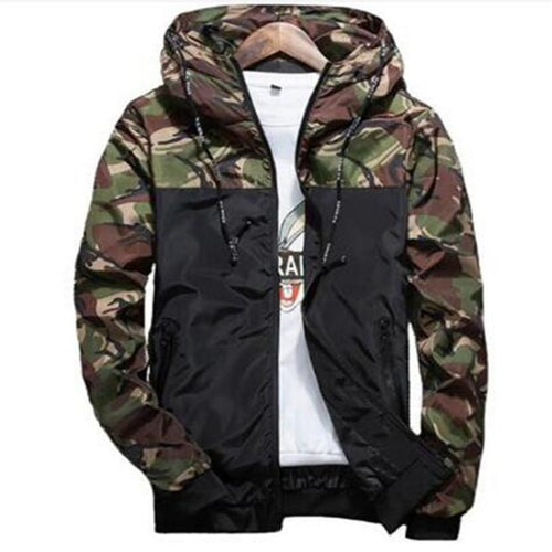 Spring Autumn Mens Casual Camouflage Hoodie Jacket Men Waterproof Clothes