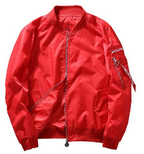 Jacket Men Clothes Embroidery Zipper Coat
