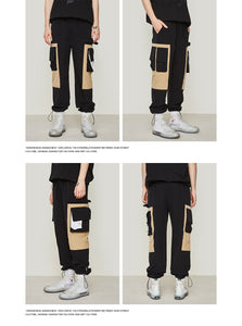 2019 SS Patchwork Side Pocket Cargo Harem Pants Mens Casual Jogger Streetwear Hip Hop Ankle Drawstring Trousers 81162W